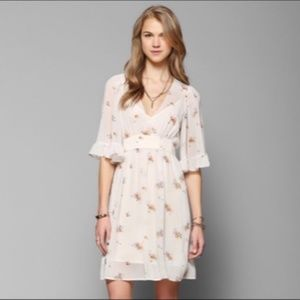 Betsey Johnson Babydoll Dress Floral Sheer